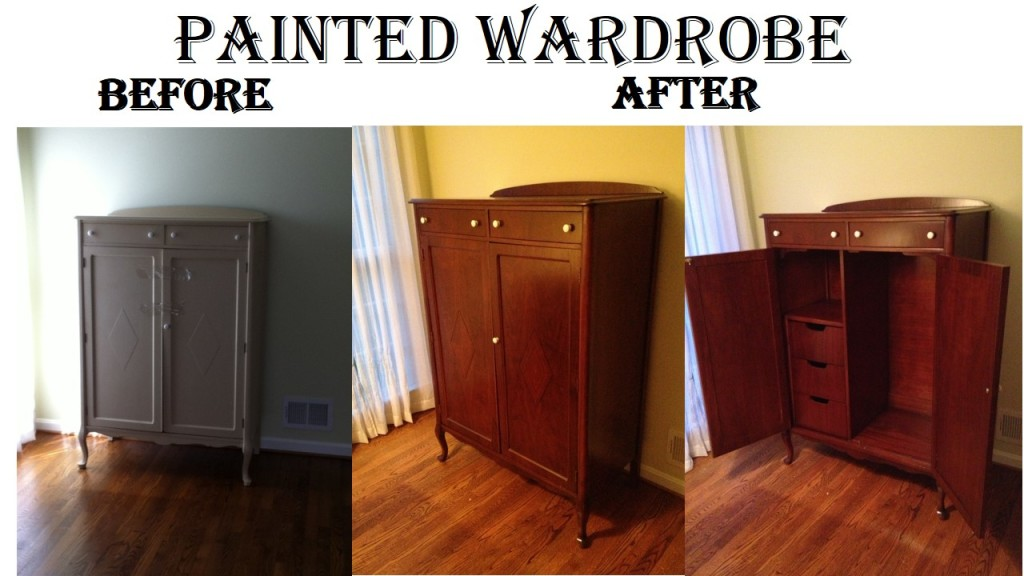 Painted Wardrobe B & A