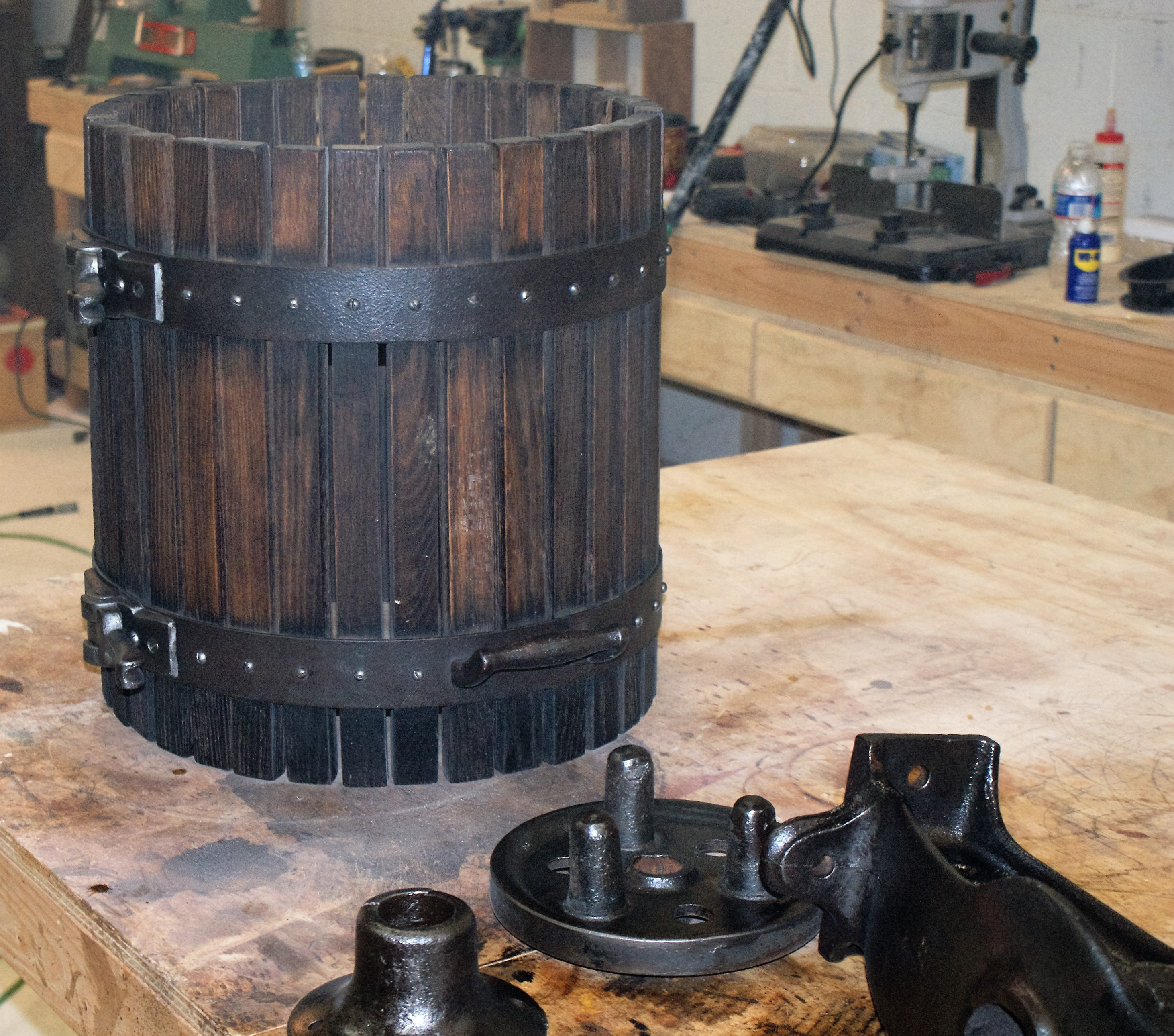 wine press pieces